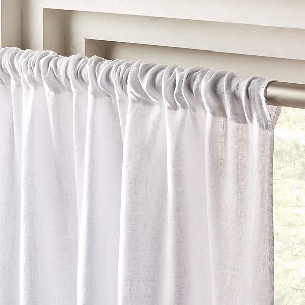 White Linen Curtain Panel 48 X84