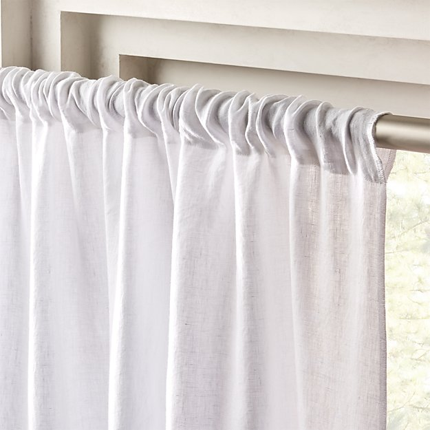 """White Linen Curtain Panel 48""""x96"""" - Image 1 of 11"""