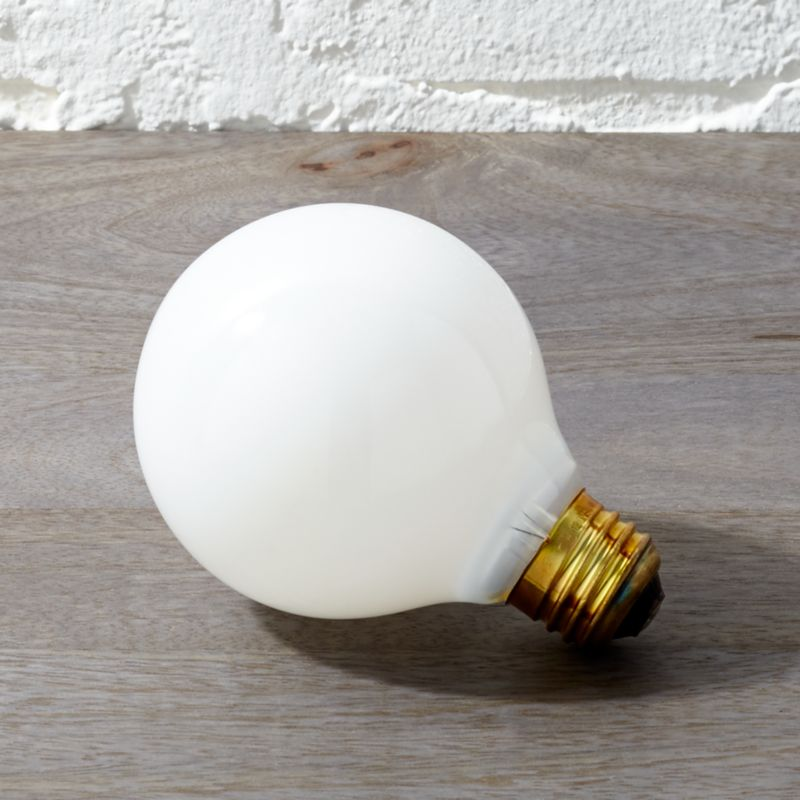 frosted 40w light bulb reviews cb2. Black Bedroom Furniture Sets. Home Design Ideas