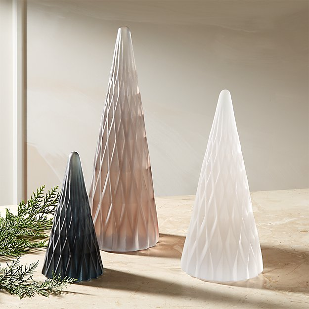 Frosted Resin Trees - Image 1 of 8