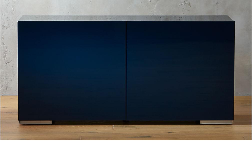La Credenza Facebook : Navy blue lacquered credenza reviews cb2