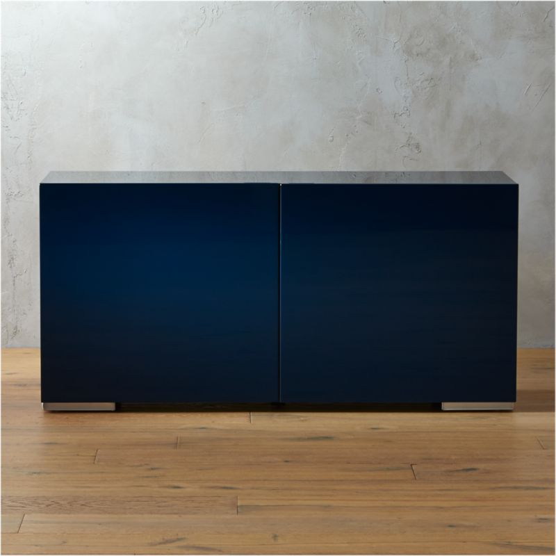 fuel navy credenza & Entryway Storage Cabinets | CB2