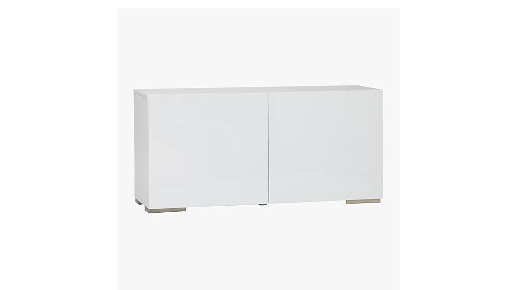 White office credenza White Tv Cb2 Fuel White Credenza Reviews Cb2
