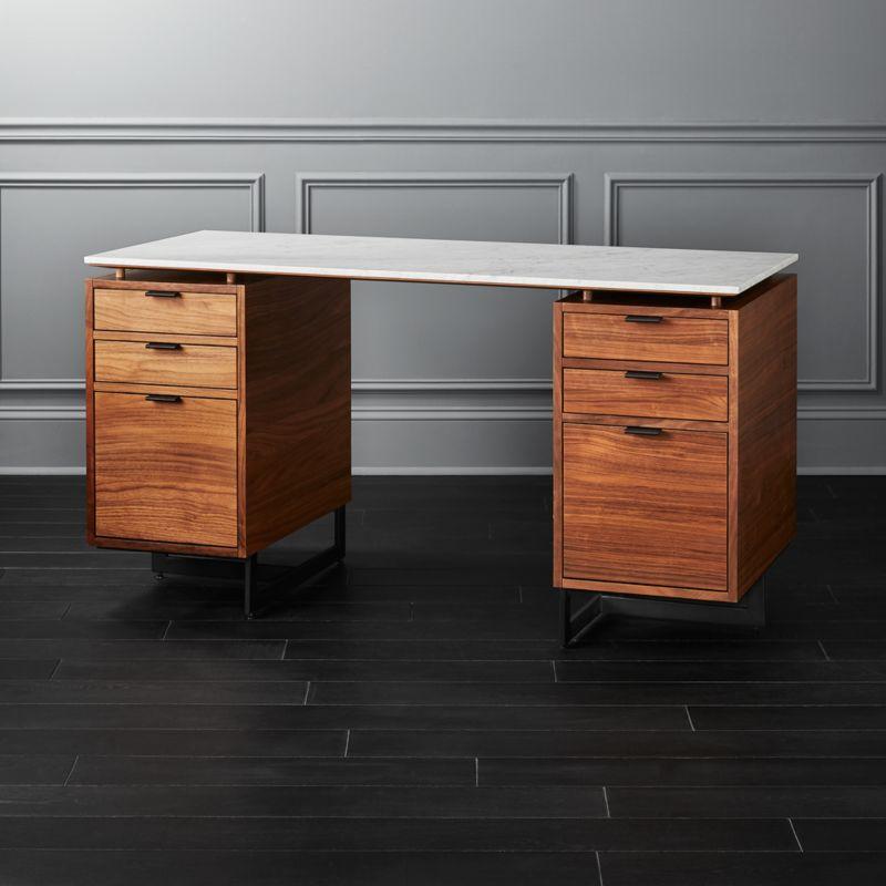 Fullerton Modular Desk With 2 Drawers Reviews Cb2