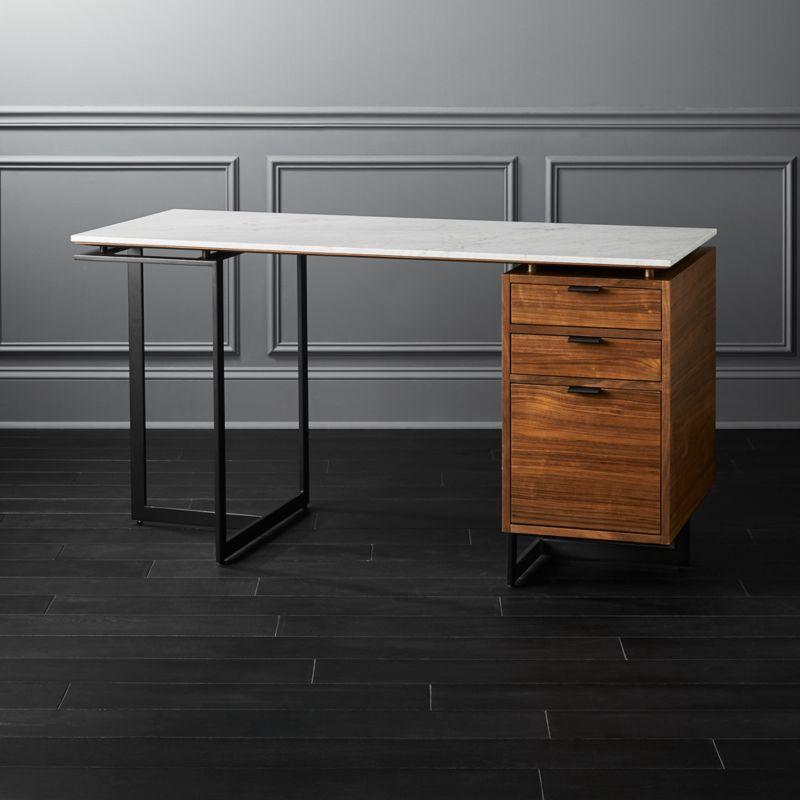 Modern Desks With Drawers Cb2