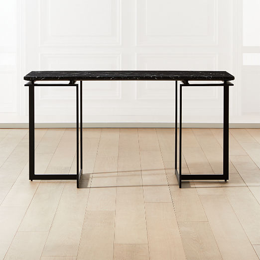 Fullerton Modular Black Desk with Two Legs