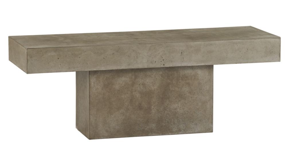 Fuze Cement Granite Bench Reviews CB - Cb2 concrete dining table