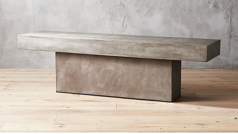 Fuze Large Stone Bench Reviews Cb2