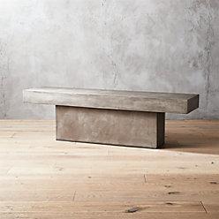 Fuze Grey Concrete Dining Table Reviews CB - Cb2 concrete table