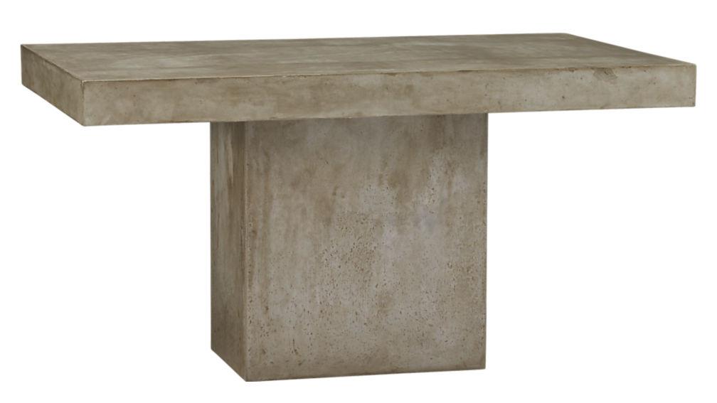 Fuze Grey Concrete Dining Table Reviews CB - Cb2 concrete dining table