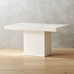 Unique Modern Dining Tables CB - Whitewashed pedestal dining table