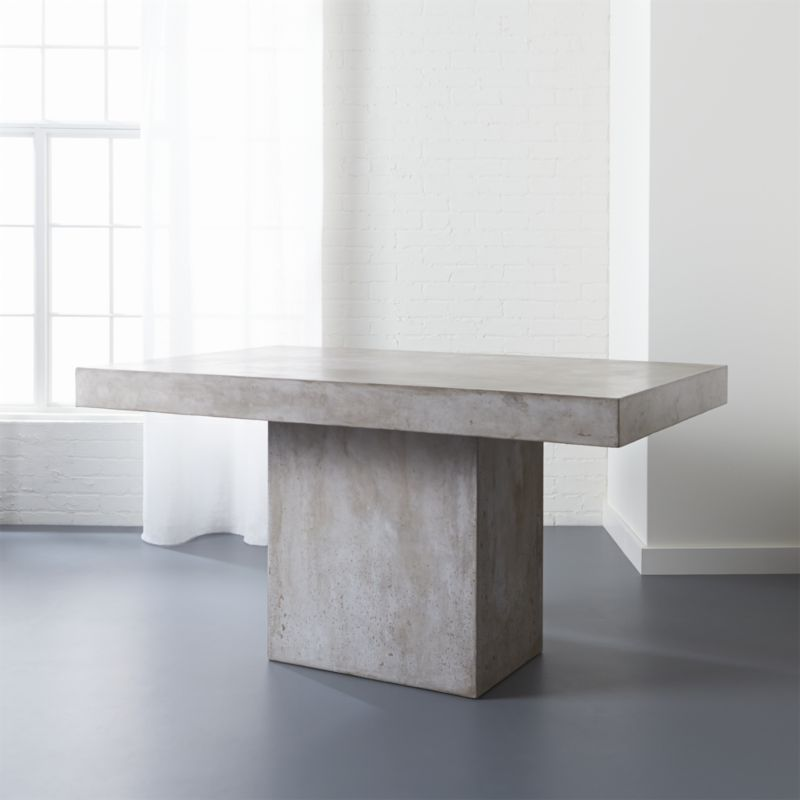 Fuze Ivory White Stone Dining Table + Reviews | CB2