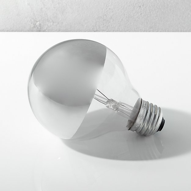 G25 Silver Tipped 40W Light Bulb - Image 1 of 5
