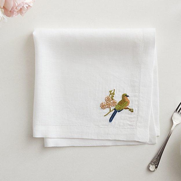 Belsize Park Bird Linen Napkin - Image 1 of 7