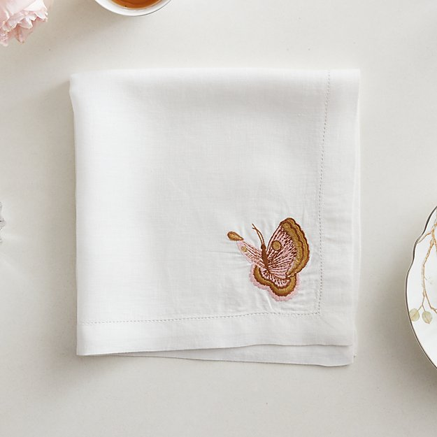 Belsize Park Butterfly Linen Napkin - SOLD OUT - Image 1 of 6