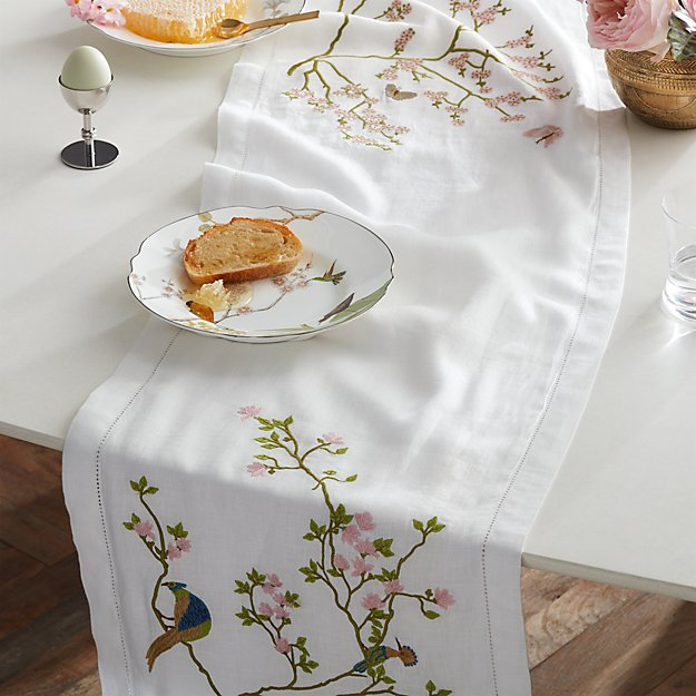 """Belsize Park Linen Table Runner 90"""" - Image 1 of 4"""