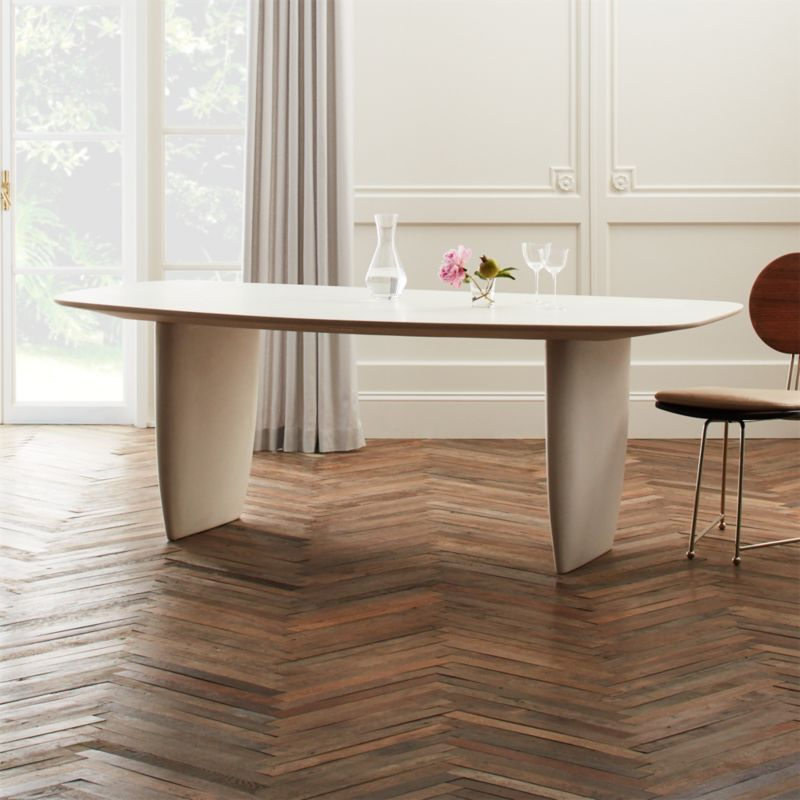 Cement Tables CB - Cb2 concrete dining table