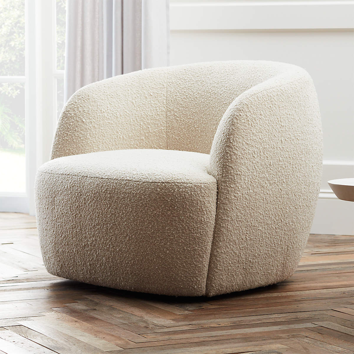 Gwyneth Ivory Boucle Chair- image 1 of 9 (Open Larger View)
