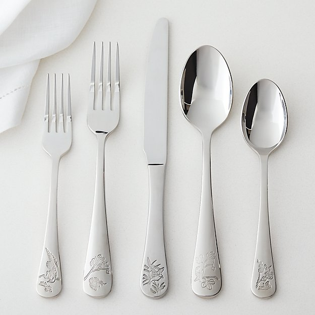 5-Piece Primrose Hill Shiny Silver Flatware Set - Image 1 of 4
