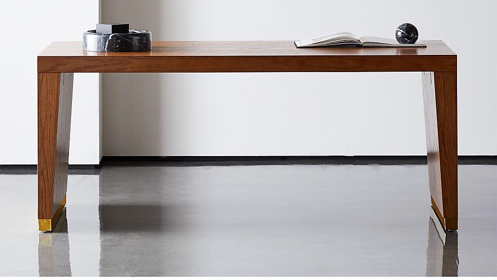 Elemental Large Wood Desk-Table - Image 1 of 7
