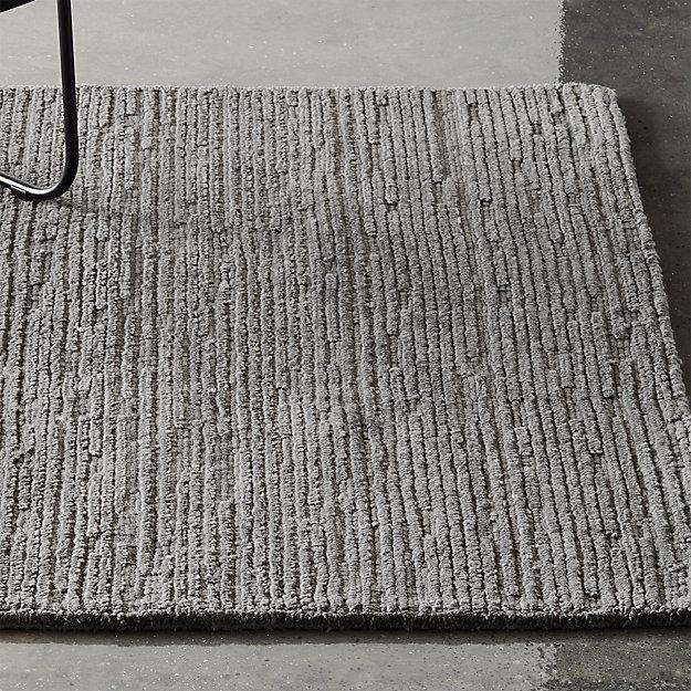 Elfen Grey Textured Wool Rug - Image 1 of 8