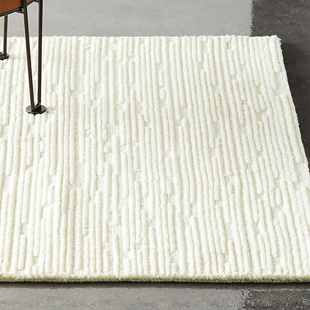 Elfen Ivory Textured Wool Rug - Image 1 of 6