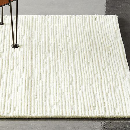 Elfen Ivory Textured Wool Rug