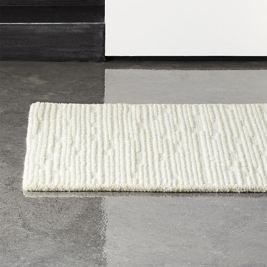 Elfen Ivory Textured Wool Runner 2.5'x8'