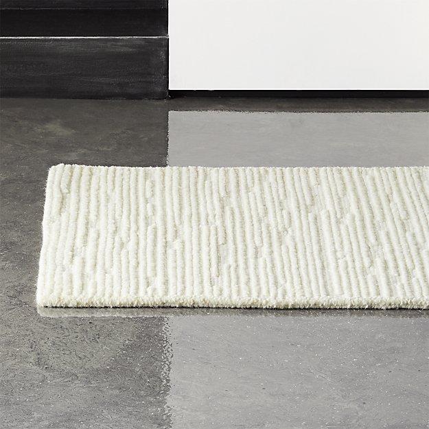 Elfen Ivory Textured Wool Runner 2.5'x8' - Image 1 of 4