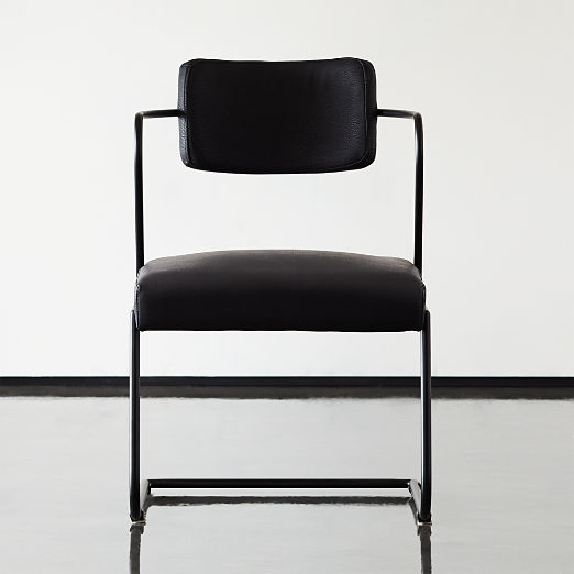 Gaff Metal Frame Chair Black
