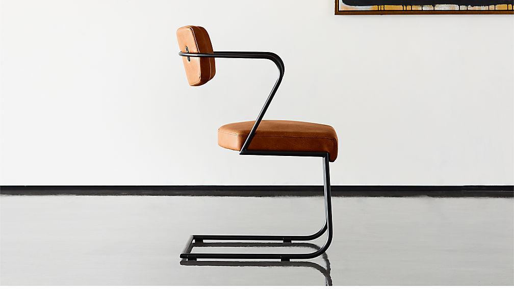 Gaff Metal Frame Chair Brown - Image 1 of 8