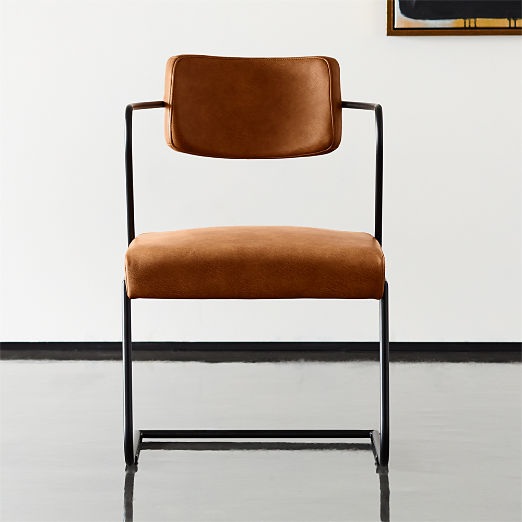 Gaff Metal Frame Chair Brown