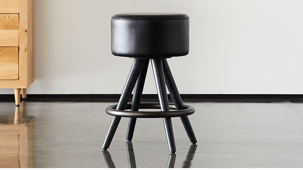 "Joi 24"" Leather Counter Stool - Image 1 of 12"
