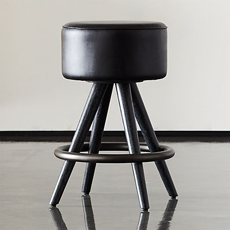 Surprising Joi 24 Leather Counter Stool Cb2 Pabps2019 Chair Design Images Pabps2019Com