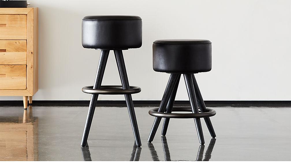 Joi Leather Bar Stools - Image 1 of 12