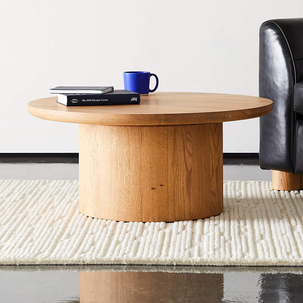 Justice Oak Coffee Table Cb2 [ 1000 x 1000 Pixel ]