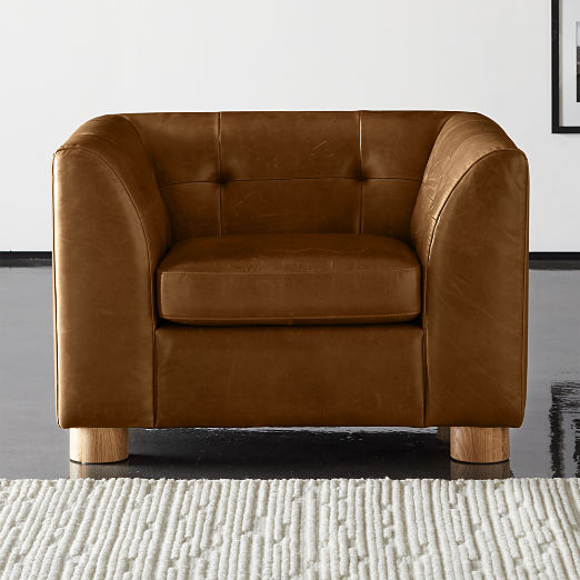 Kotka Tobacco Tufted Leather Chair