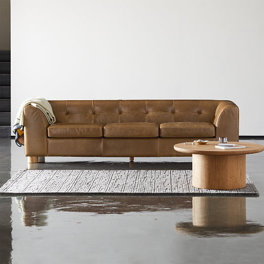 Kotka Tobacco Tufted Leather Sofa