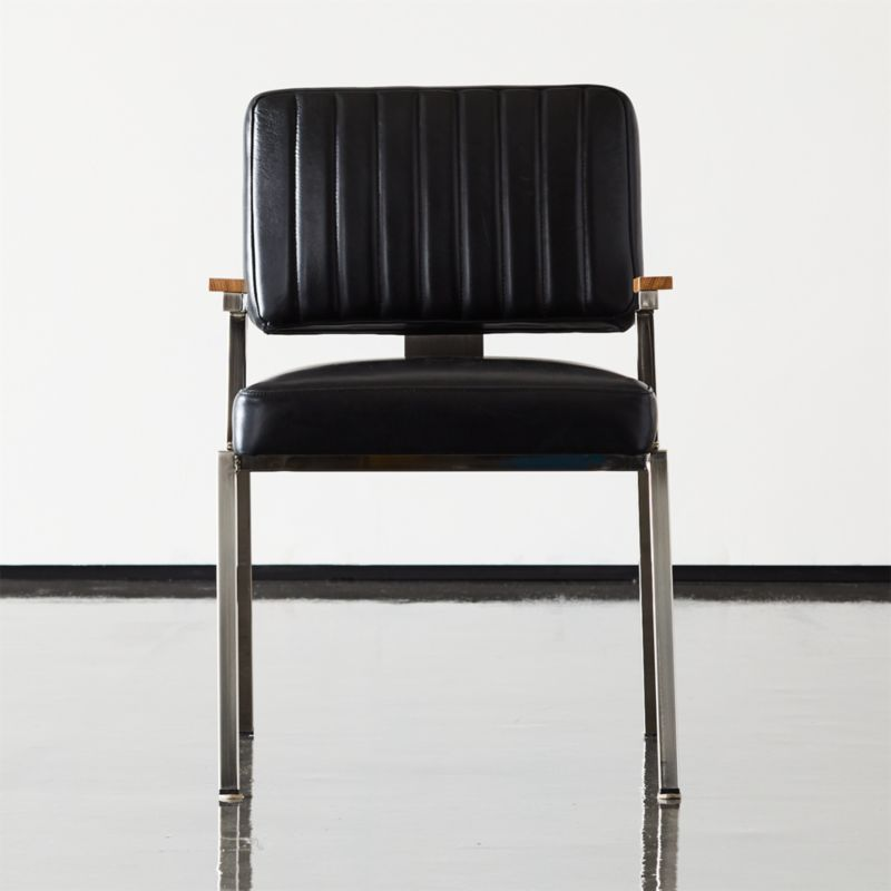 Krall Leather Dining Chair With Arms Sold Out Reviews Cb2