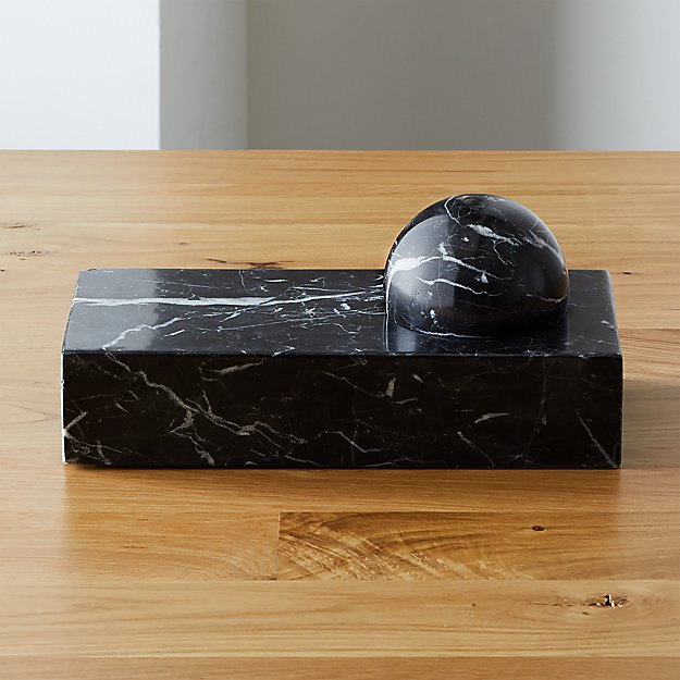Marble Paperweight and Catchall - Image 1 of 9