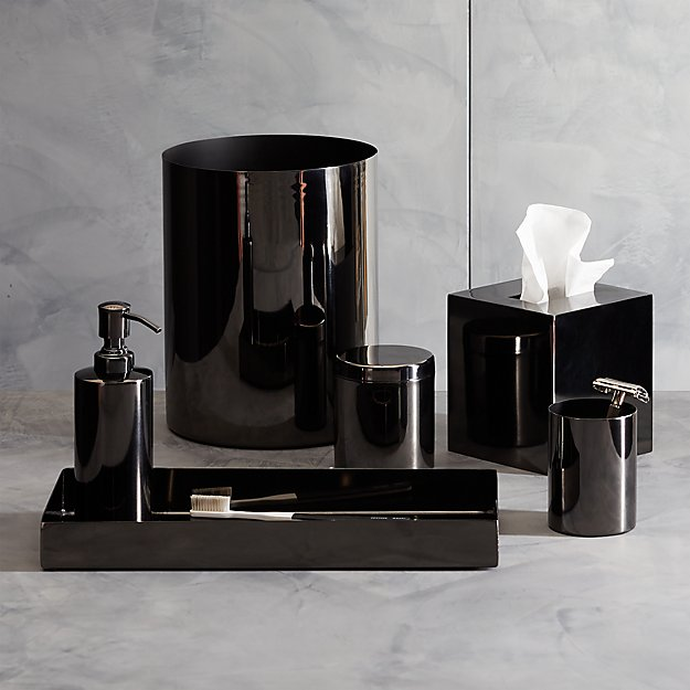 Richter Black Bath Accessories - Image 1 of 11