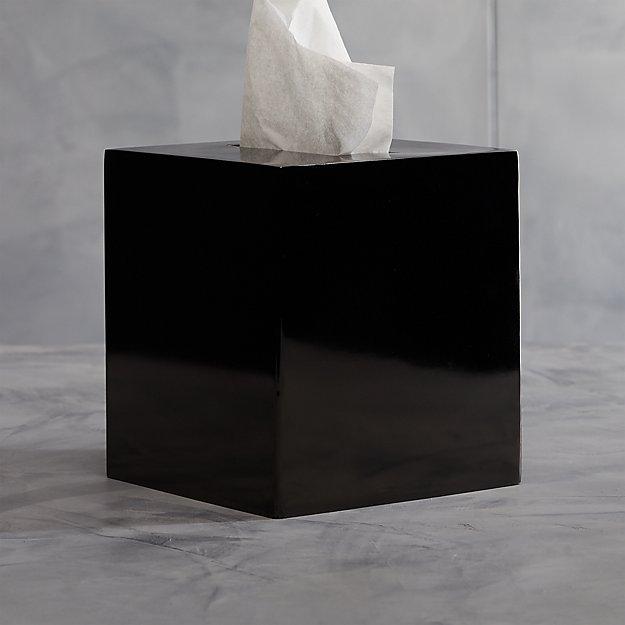 Richter Black Tissue Box Cover - Image 1 of 11