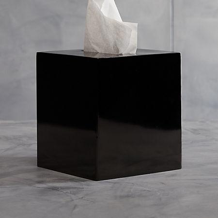 Richter Black Tissue Box Cover