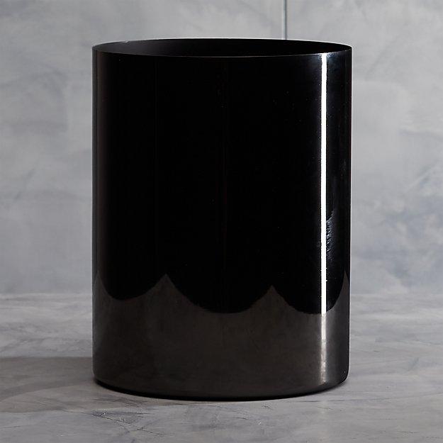 Richter Black Wastebasket - Image 1 of 11