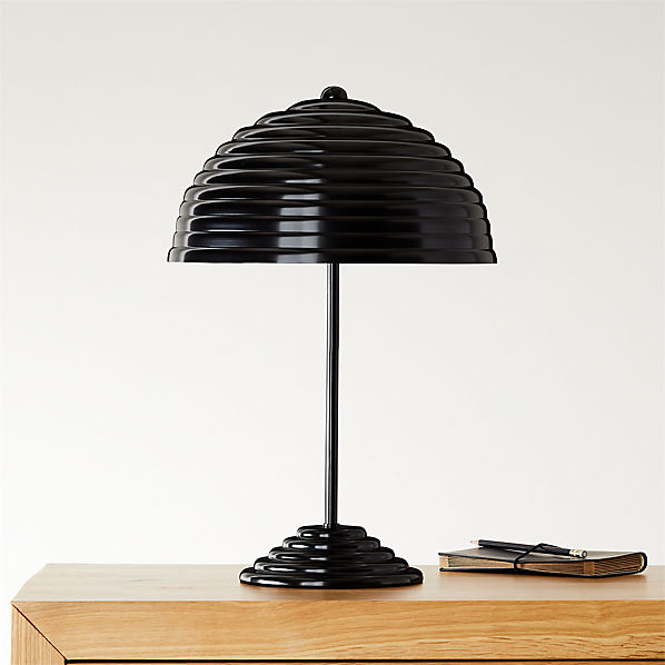 Merveilleux Ripley All Black Table Lamp + Reviews | CB2