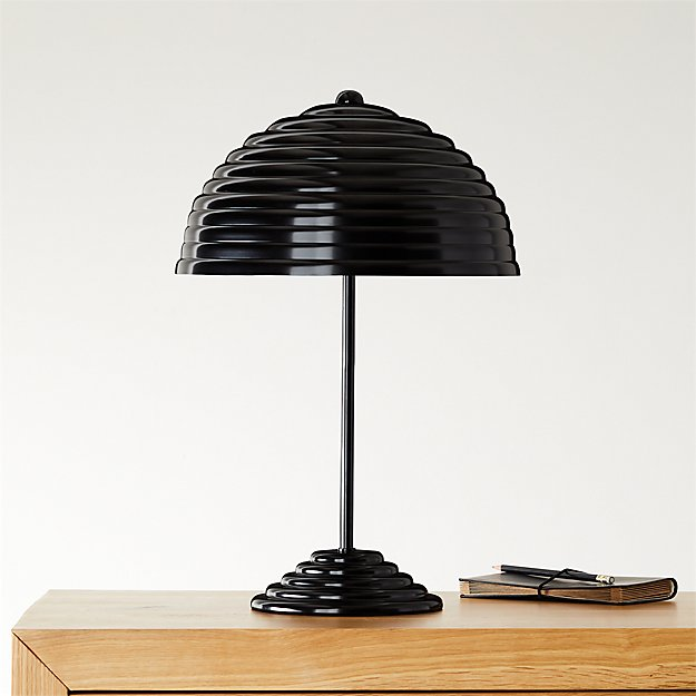 Ripley All-Black Table Lamp - Image 1 of 10