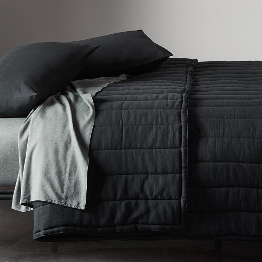 Ryder Black Channeled Bedding
