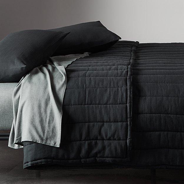 Ryder Black Channeled Bedding - Image 1 of 7