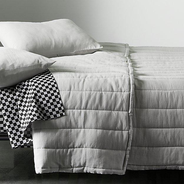 Ryder Grey Channeled Bedding - Image 1 of 6