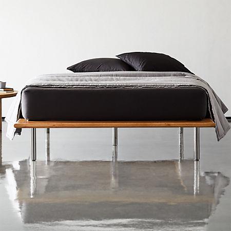 super popular 86937 19da7 Simms Natural Wood Platform Bed | CB2